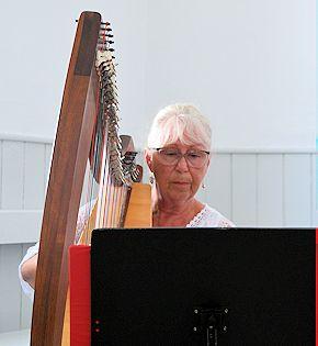 Harpist Janet Squire